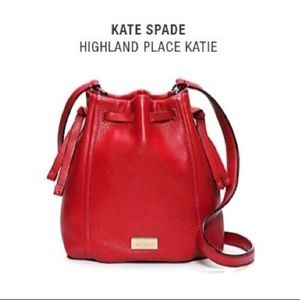 Kate Spade Highland Place Katie Red Bucket Bag
